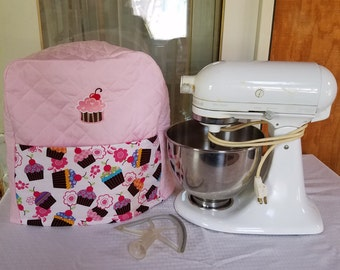 Kitchenaid mixer cover-pink-cupcake-embroidered