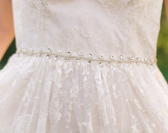 Crystal belt Bridal belt Silver belt Beaded belt Beaded sash crystal sash wedding belt wedding sash beaded belt beaded sash #146