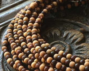3mm Sandalwood & Rosewood Beads 3mm Natural Wood Beads Simple Layering Necklace