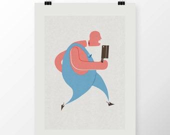 """A2 Giclee Print """"BUTCHER"""" By Celeste Potter"""