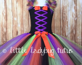Witch Tutu Dress. Halloween Witch Tutu. Witch Halloween Costume. Little Witch Costume. Not so Scary Halloween Tutu.