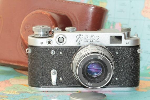 FED 2 Vintage Soviet Rangefinder Camera lens Industar 61 N5643515