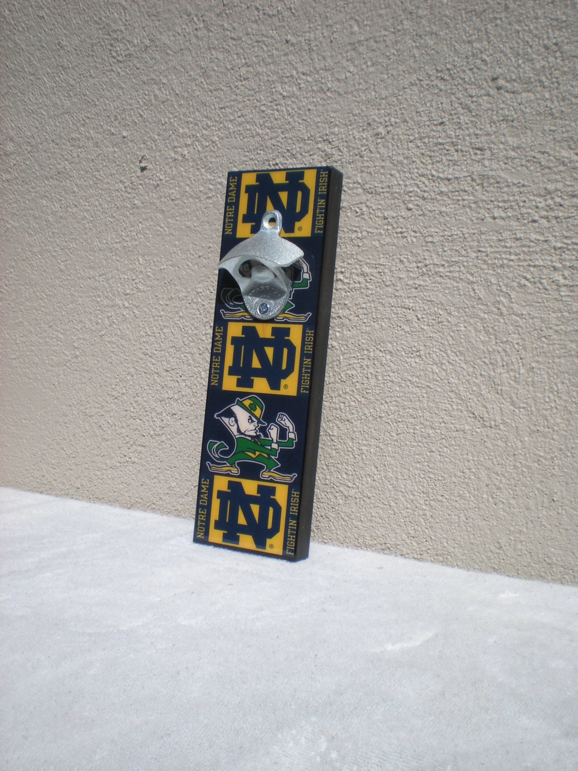 Notre Dame Bottle Opener Magnetic Cap Catcher Wall Mounted