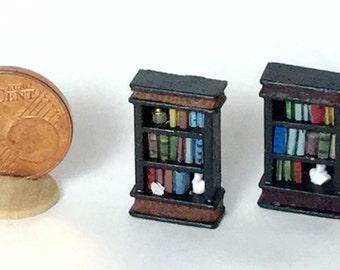 Art Deco style bookcase, scale 1/144