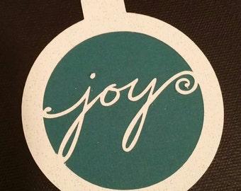 Joy Ornament Gift Tag