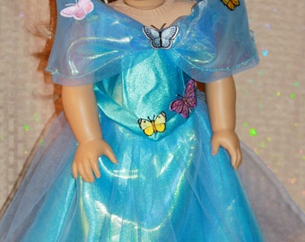 Butterfly Ballgown for 18 in Dolls