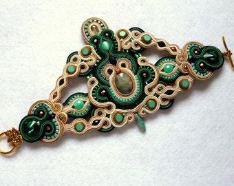 Soutache Bracelet Statement Elegant Unique Ethno Boho Glamour Armband Soutache Bracelet de Soutache Braccialetto Soutache