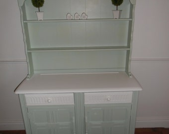 Priory welsh dresser refurbished in theresa green and wevet (white)