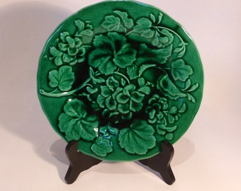 Majolica display plate - original from the 1900s
