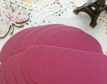 Mini Size DIY Textured Envelopes /Plum Shimmer/5 PCS/6x9cm