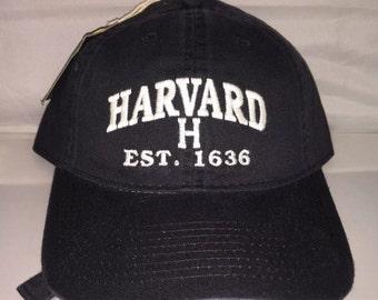Vintage Harvard Crimson Strapback hat cap dad hat NCAA College Football og iv league