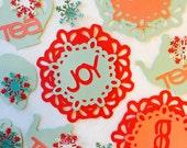 Tea Fetti, table fetti, confetti, tea décor, table décor, party décor, paper confetti, paper fetti, paper décor