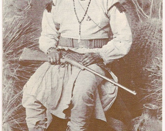 Bonito, Chiricahua Chief / Old West Collectors Series / Native American / Postcard