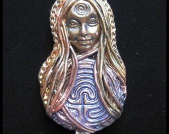Flower of Life Polymer Clay Goddess/Pendant