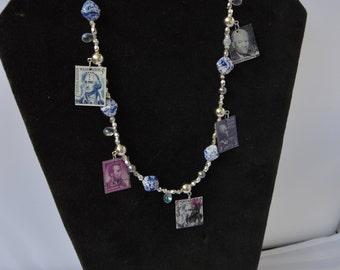 Vintage Stamp President's Necklace