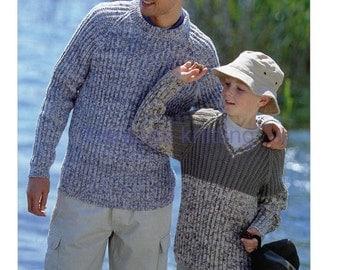boys mens sweaters dk knitting pattern 99p pdf