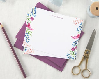 Watercolor Flower Notecards/ Thank You Cards/ Stationery