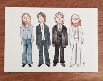 The Beatles inspired art print