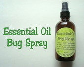 Essential Oil Bug Spray, Natural Bug Spray, Natural Bug Repellent, Essential Oil Bug Repellent, Essential Oil Spray, 4 oz Bug Spray