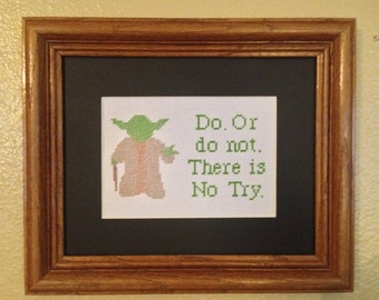 Yoda Star Wars Cross Stitch Pattern Needlepoint Embroidery Sampler Buy Two Patterns get a Third FREE!!