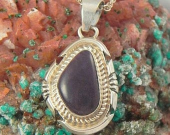 Black Onyx Sterling Pendant and Chain