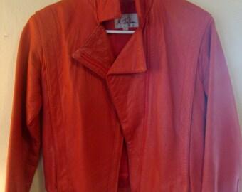 M. Julian Red Leather Jacket