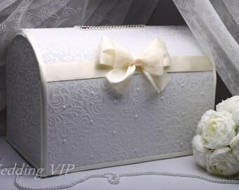 Wedding box IVORY  wedding card box Wedding card holder Wedding post box Wedding gift box