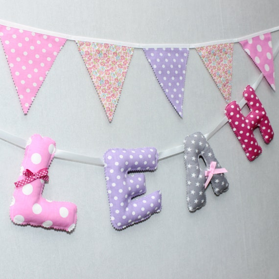 Nursery wall letters fabric baby name letters letters for Baby nursery letters
