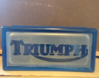 triumph motorcycle glass block