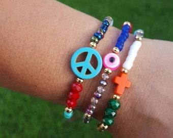 Howlite bracelet set