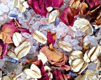 Bath Tea- Bath Soak- Bath Tea Bags- Herbal Bath Tea- Essential Oil- Lavender Rose Oatmeal