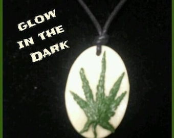 Cannabis Leaf Pendant Necklace
