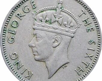 1948 Malaya 20 Cents George VI Coin
