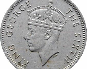 1948 Malaya 10 Cents George VI Coin