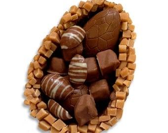 Chocolate Easter Egg, Fudge Easter Egg, Rocky Road, Fudge, Milk Chocolate, Easter, Hand-made Chocolate, Cornish Chocolate