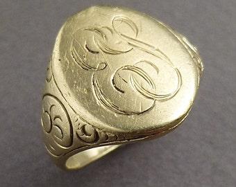 14 k Signet ring size 8.5