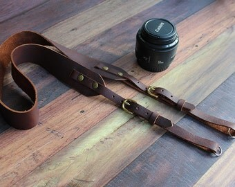 Handmade Leather Adjustable Camera Strap