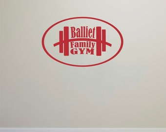 Personalized Gym Wall Decal Sticker