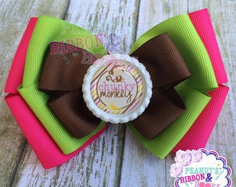Chunky Monkey Stacked Boutique Bow