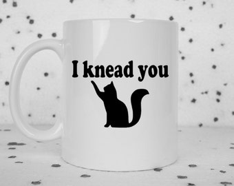 Cute coffee mug, cat mug, novelty coffee mug, coffee, gifts under 20, gift for him, gift for her, coffee cup, kneading cat, crazy cat lady