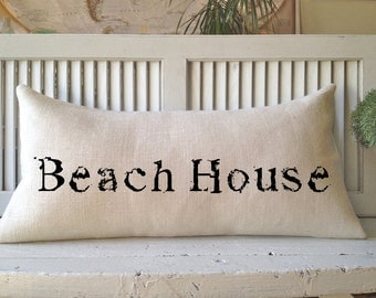BEACH HOUSE PILLOW, Decorating With Pillows,Insert Included