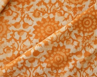 Yellow fabric, Cotton Fabric, Printed Cotton, Hand Block Print, Cotton Fabric by the yard, Indian Fabric, Block Print Fabric, Natural Fabric