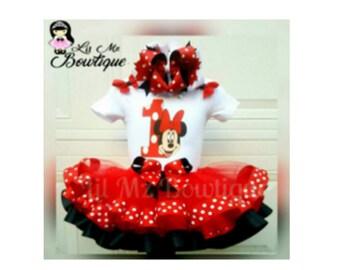 Minnie mouse tutu outfit, minnie mouse tutu, minnie tutu set, minnie  mouse birthday outfit, minnie mouse dress, minnie tutu dress