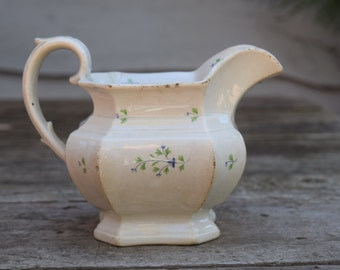 Vintage Ironstone/Ceramic Creamer Pitcher with Dainty Floral Motif