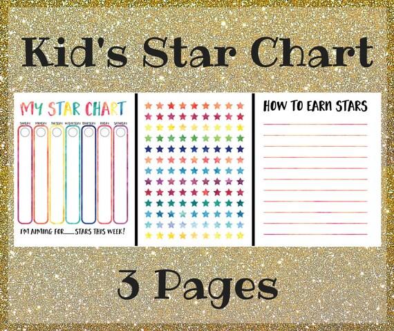 Wedding Star Chart: Kid's Chore Chart Printable Star Chart For Kids