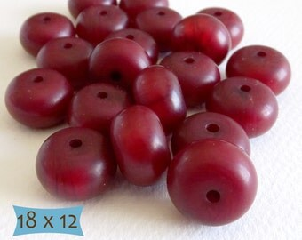 Dark Cherry Red Copal Abacus Beads--5 Pcs | 20-CP101A-5