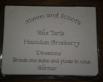 Hawaiian Cranberry Wax tarts