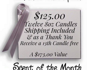 12 Month Subscription (Candle a month for 12 months)