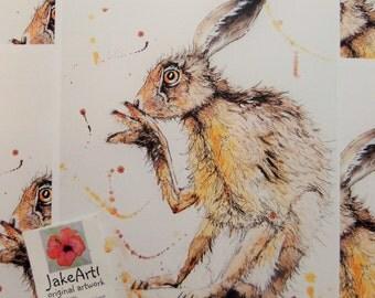 Hare, Hares, British Wildlife, Wildlife art, Prints