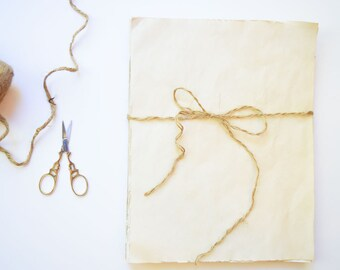 set of 20~Coffee & Crumpets Coffee Stained Paper